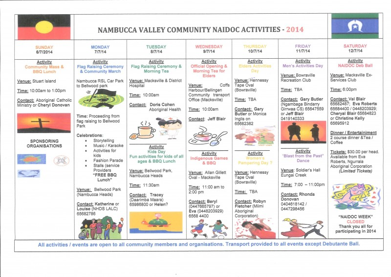 Nambucca Valley Community NAIDOC activities 2014
