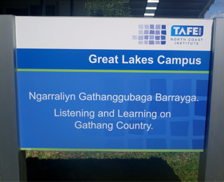 Gathang flavour to new campus signage