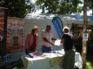 Muurrbay stall at Bellingen writers festival