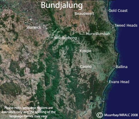 Bundjalung Language Map