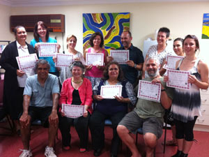 Students and teachers of the Certificate I in Aboriginal Languages