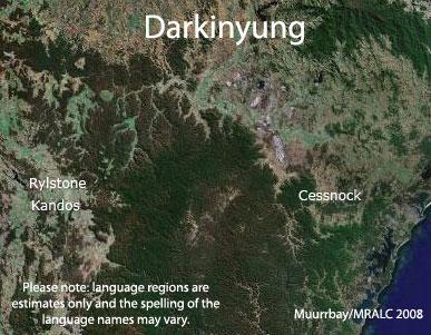 Darkinyung Language Map