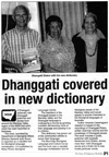 Dhanggati covered in new dictionary